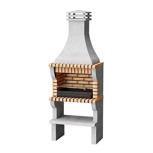 Barbacoa de ladrillo / hormigón refractario maipu xl 245x86.5x58 cm de 525 kg