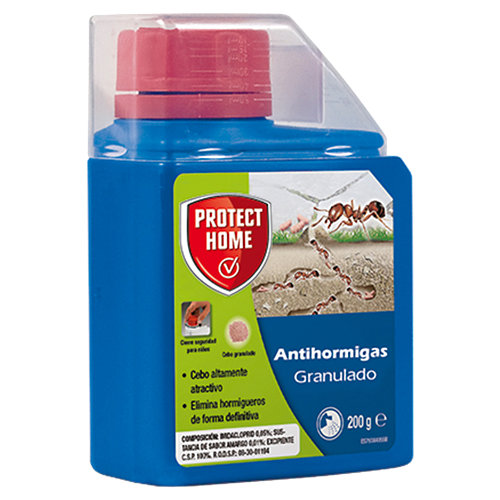Cebo hormigas granulado protect home para exterior que erradica el hormiguero