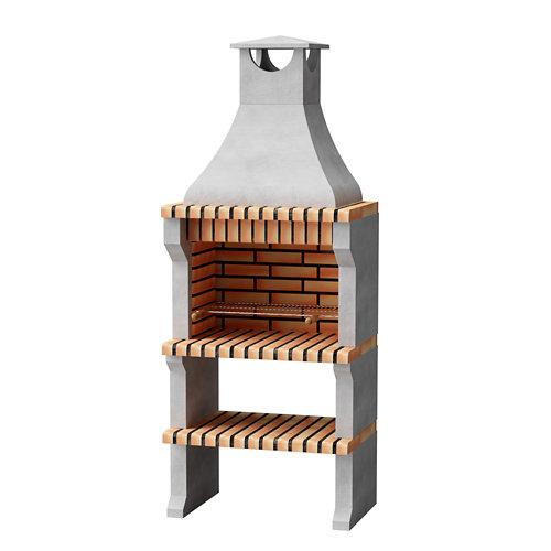 Barbacoa de ladrillo / hormigón alcoa xl 225x86.5x58 cm de 505 kg