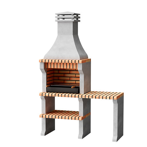Barbacoa de ladrillo / hormigón alcoa plus xl 225x158x58 cm de 609 kg