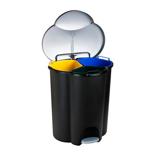 Cubo de basura de recogida selectiva con pedal curver para menos de 20 litros