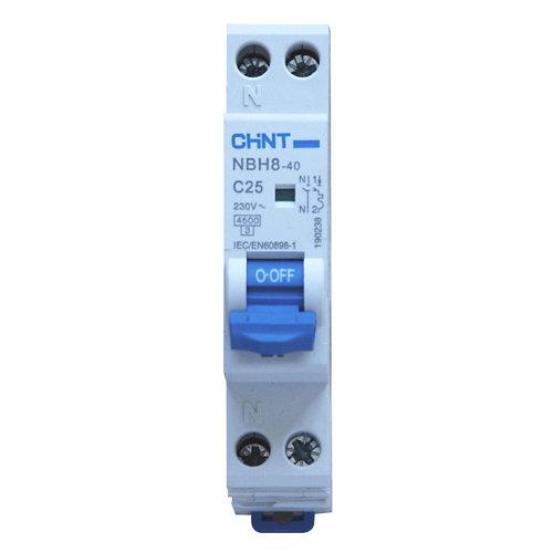 Interruptor magnetotérmico chint 1p+n 25a