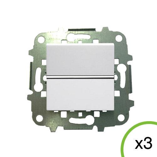 Pack de 3 interruptores niessen zenit blanco