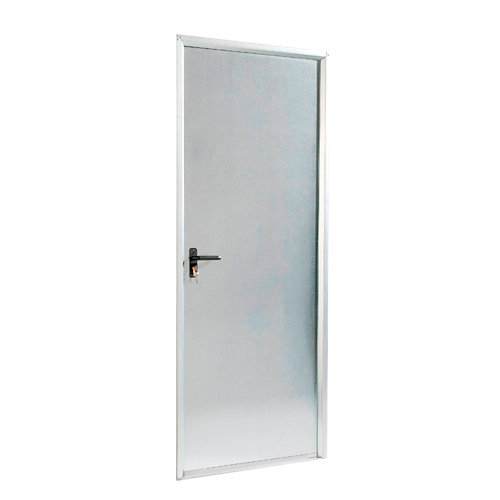 Puerta de servicio derecha acero galvanizado/acero galvanizado de 200x70 cm