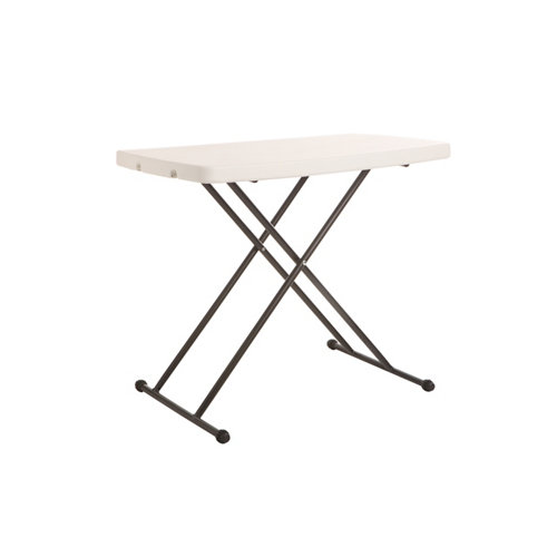 Mesa de jardín de comedor de acero catering blanco de 49.5x73x75.5 cm