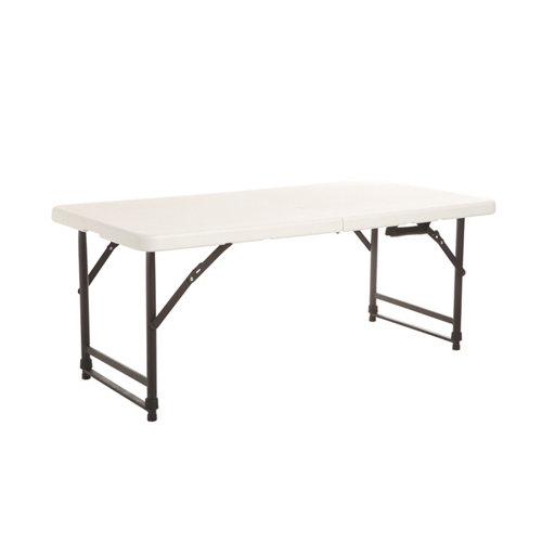 Mesa de picnic de acero catering blanco de 60x74x122 cm