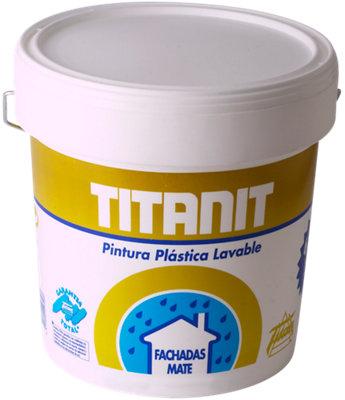 Pintura para fachadas acrílica beige TITÁN de 4L
