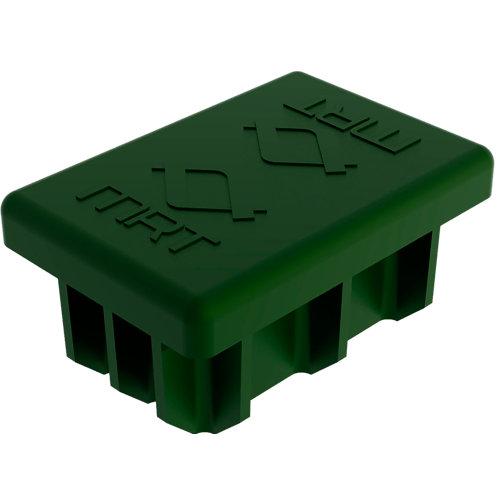 Tapón verde hércules cuadrado metálico