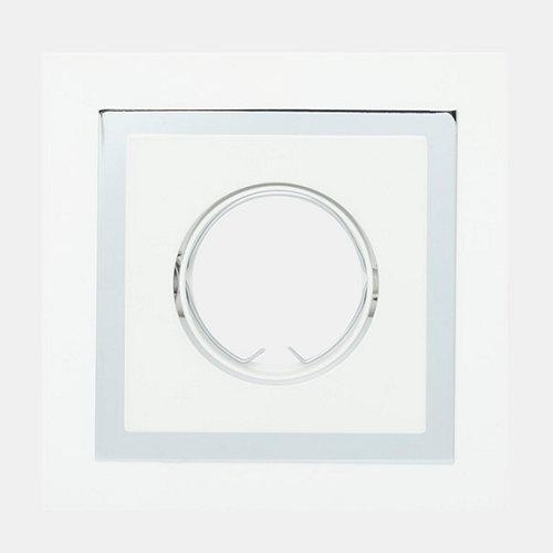 Foco empotrable technic cuadrado blanco