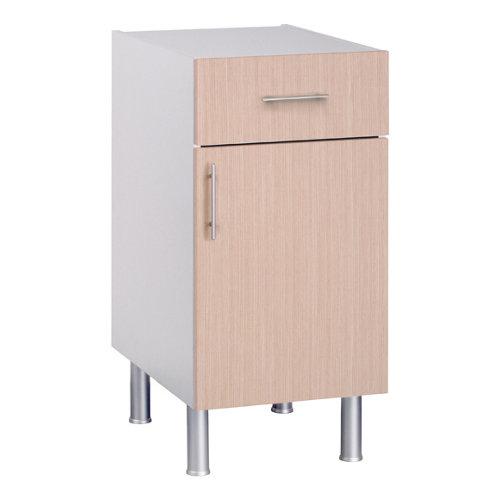 Mueble bajo basic roble 1 puerta + 1 cajón fabricado en aglomerado 40 x 70 cm