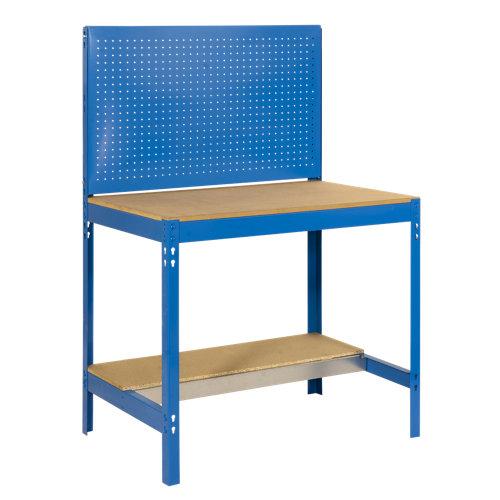 Banco de trabajo bt2 90 azul con panel perforado