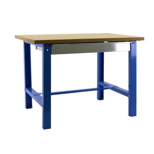 Banco de trabajo bt6 150 azul con madera