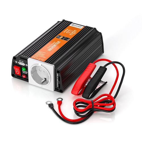 Inversor de onda modificada mj-xunzel-300w-24v con cables incluidos