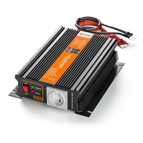 Inversor de onda modificada mj-xunzel-800w-24v con cables incluidos