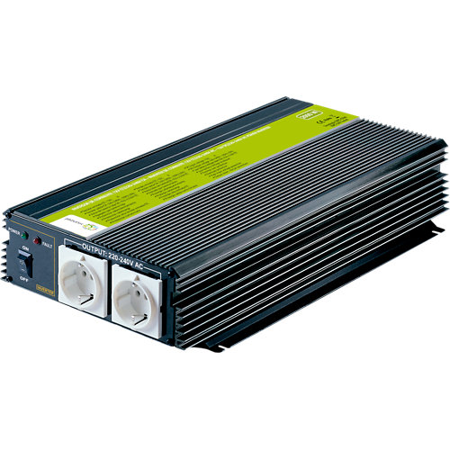 Inversor de onda modificada mj-xunzel-2000w-24v con cables incluidos
