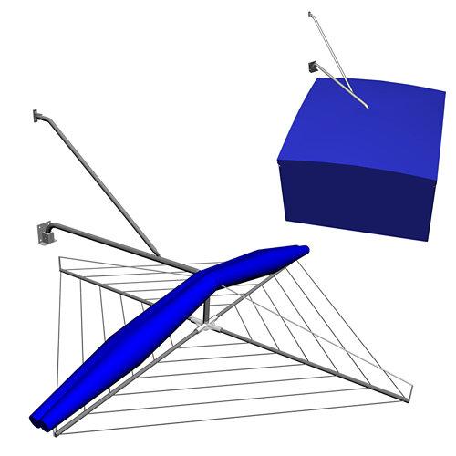 Tendedero de exterior de paraguas de 110x110 cm desplegado