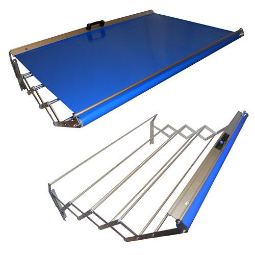 Tendedero barras extensible para pared de aluminio de 120x23x75 cm
