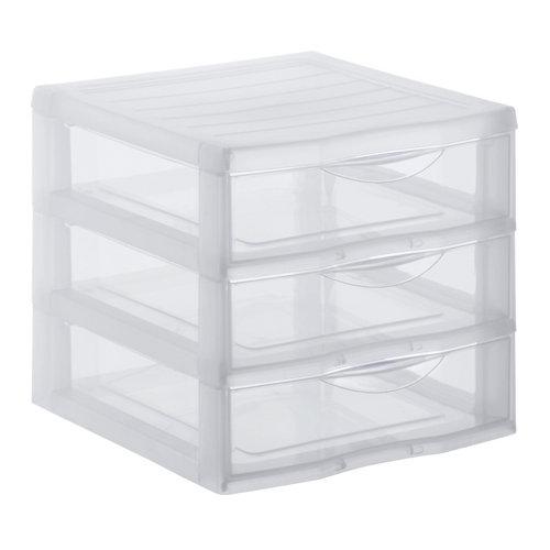 Organizador de tornillos de plástico con 3 cajones de 17x18x21 cm