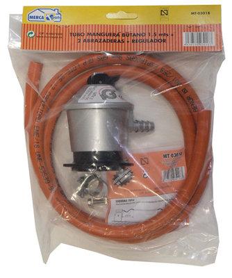 Conjunto Regulador Para Gas Mercatools Tubo 1 5 Abrazadera Leroy Merlin