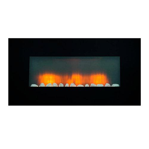 Chimenea eléctrica edco vancouver 1800 w negro