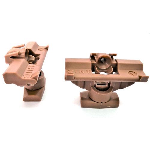 25 unidades de clips pro para suelo quick fix. marrón