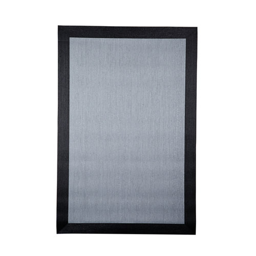 Alfombra gris pvc teplon gris y negro 160 x 230cm