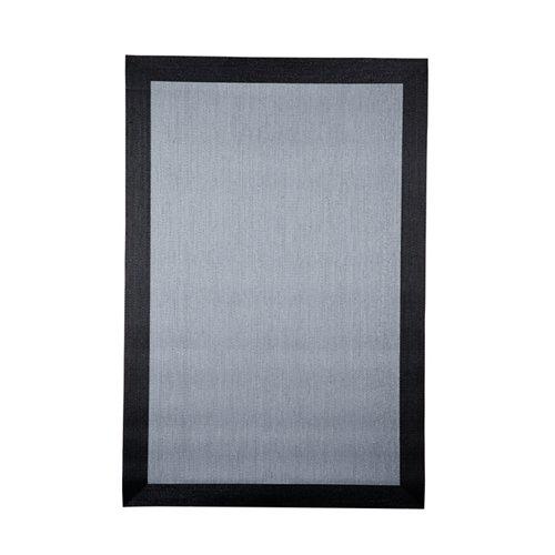 Alfombra gris pvc teplon gris y negro 100 x 150cm