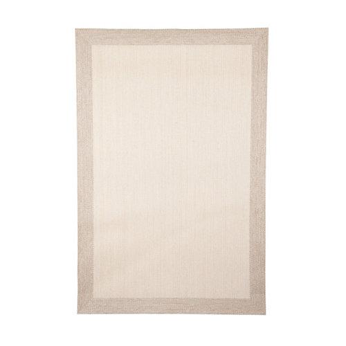 Alfombra beige pvc cenefa 70 x 120cm