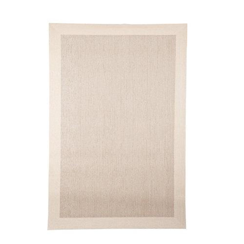 Alfombra beige pvc cenefa 140 x 200cm