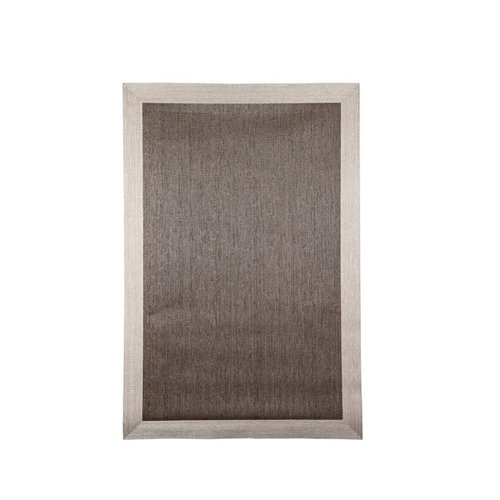 Alfombra marrón pvc cenefa 120 x 120cm