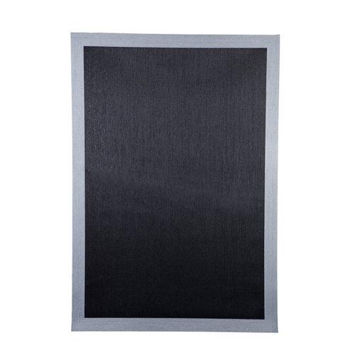 Alfombra negra pvc cenefa 160 x 230cm