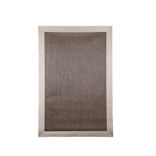 Alfombra marrón pvc cenefa 70 x 120cm