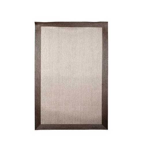 Alfombra teplon pvc crema con cenefa bronce 70x120 cm