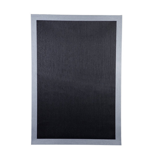 Alfombra negra pvc cenefa 140 x 200cm