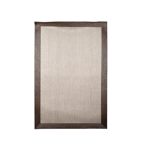 Alfombra teplon pvc crema con cenefa bronce 100x150 cm