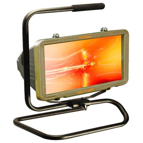 Radiador halógeno infrawaterproof 1300 w marrón