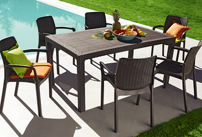 mesa y silla melody cristal
