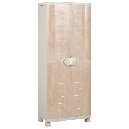 Armario alto baldas space saber de 184x70x45 cm para uso interior / exterior