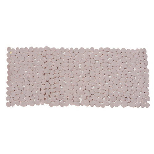 Alfombra antideslizante pvc con ventosas rok beige 35x70 cm