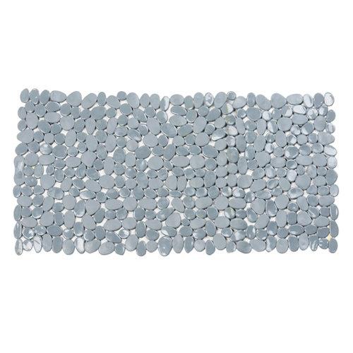 Alfombra antideslizante pvc con ventosas rok gris 35x70 cm