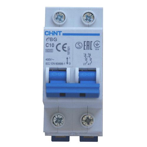 Interruptor magnetotérmico chint bipolar 10a