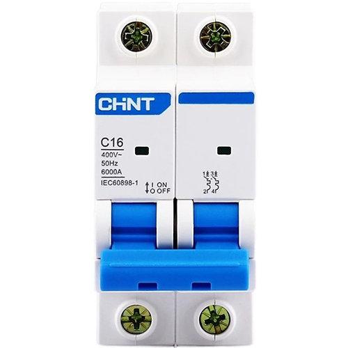 Interruptor magnetotérmico chint bipolar 16a