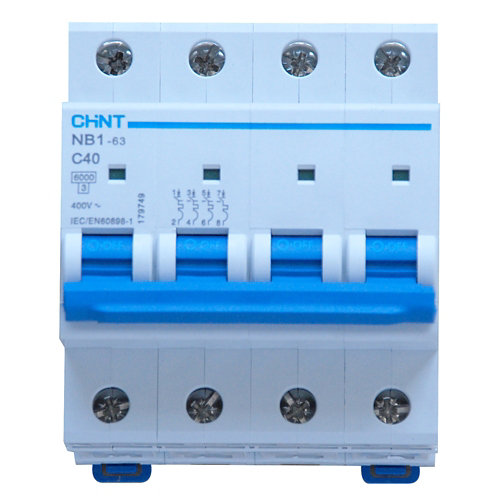 Interruptor magnetotérmico tetrapolar chint de con 4 módulos