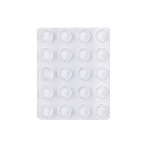 20 topes de puerta para fijar en suelo transp. 1,3x1,3x1,3 cm