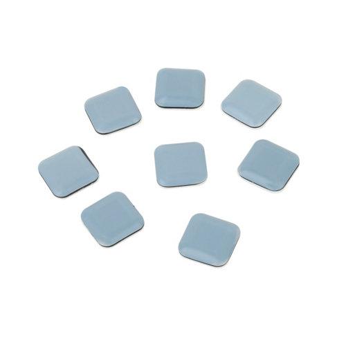 8 patín cuadrados de plástico de 24x24 mm