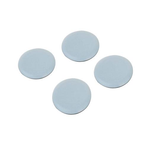 4 patín redondos de plástico de 40x40 mm