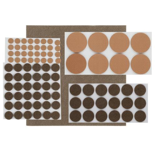 Surtido de 175 piezas de fieltros adhesivos