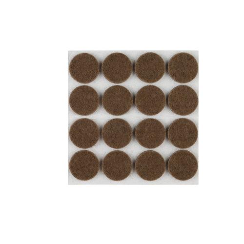 Paquete 16 fieltros redondos de fieltro de 22x22 mm