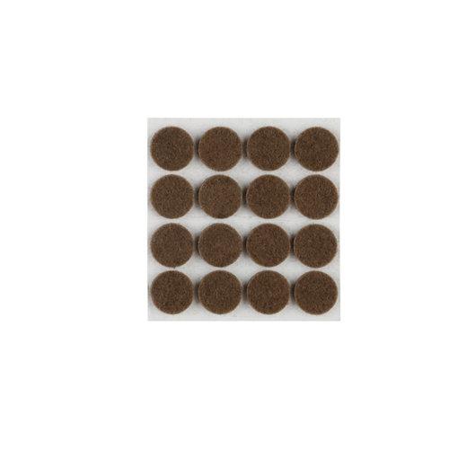 Paquete 16 fieltros redondos de fieltro de 16x16 mm