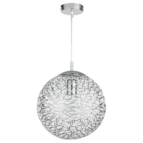Lámpara de techo deva plateada inspire 1 luz